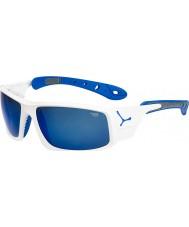 Cebe Ice 8000 kiiltävä valkoinen sininen aurinkolasit