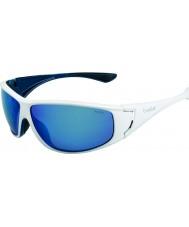 Bolle Highwood kiiltävä valkoinen sininen polarized offshore sininen aurinkolasit
