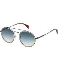 Tommy Hilfiger Th 1455-s bqz 08 matta sininen aurinkolasit