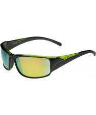 Bolle Keelback kiiltävän musta vihreä polarized ruskea Emerald aurinkolasit