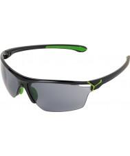 Cebe Cinetik iso kiiltävä musta vihreä aurinkolasit