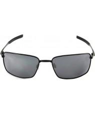 Oakley Oo4075-01 neliön johto kiillotettu musta - musta iridium aurinkolasit