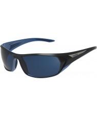 Bolle Blacktail kiiltävä musta sininen polarized offshore sininen aurinkolasit