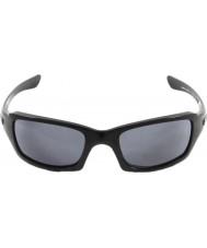 Oakley Oo9238-04 fives potenssiin kiillotettu musta - harmaa aurinkolasit