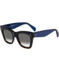 Celine Naisten cl 41090-s QLT z3 musta Havana sininen aurinkolasit