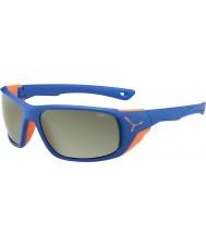 Cebe Jorasses suuri matta sininen oranssi variochrom huippu flash peili aurinkolasit