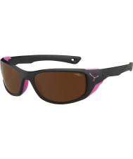 Cebe Jorasses keskipitkän mattamusta pinkki 2000 ruskea flash peili aurinkolasit