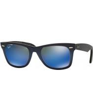 RayBan RB2140 50 alkuperäinen Wayfarer sininen kaltevuus vaaleansininen 120368 blue peili aurinkolasit