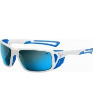 Cebe Proguide kiiltävä valkoinen sininen 4000 harmaa mineraali sininen aurinkolasit