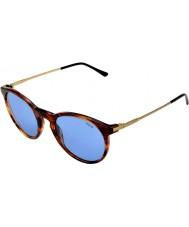 Polo Ralph Lauren Ph4096 50 klassinen tyyli raidallinen Havana 500772 aurinkolasit