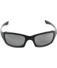 Oakley Oo9238-06 fives potenssiin kiillotettu musta - musta iridium polarized aurinkolasit
