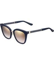 Jimmy Choo Naisten Fabry-s KCA nh sininen kimalteleva kulta peili aurinkolasit