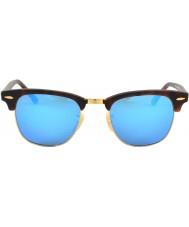 RayBan Rb3016 Clubmaster hiekka kilpikonnankuori - sininen peili