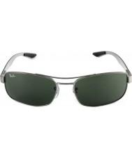 RayBan Rb8316 62 tech hiilikuitu gunmetal vihreä 004 aurinkolasit