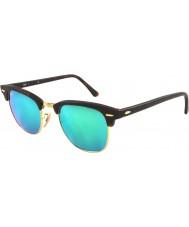 RayBan Rb3016 51 Clubmaster hiekka kilpikonnan-kulta 114519 vihreä peili aurinkolasit