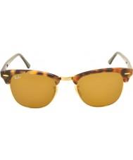 RayBan Rb3016 51 Clubmaster täplikäs ruskea havanna 1160 aurinkolasit