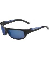 Bolle Fierce kiiltävä musta sininen polarized offshore sininen aurinkolasit