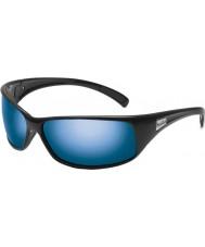 Bolle Rekyyli kiiltävän musta polarized offshore sininen aurinkolasit