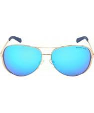 Michael Kors Mk5004 59 chelsea nousi kulta 100325 sininen peilattu aurinkolasit